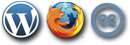 loghi Wordpress Firefox Creative Commons
